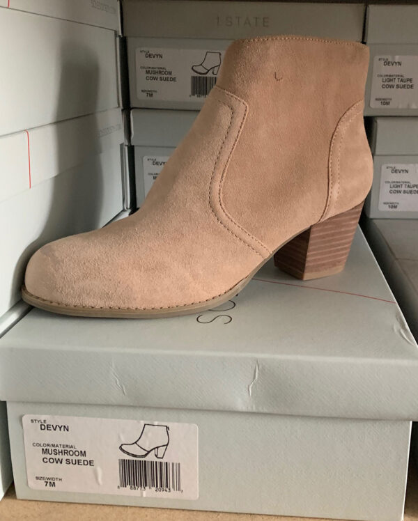 New Items Sole Society Tan Suede Ankle Boot with Stitching