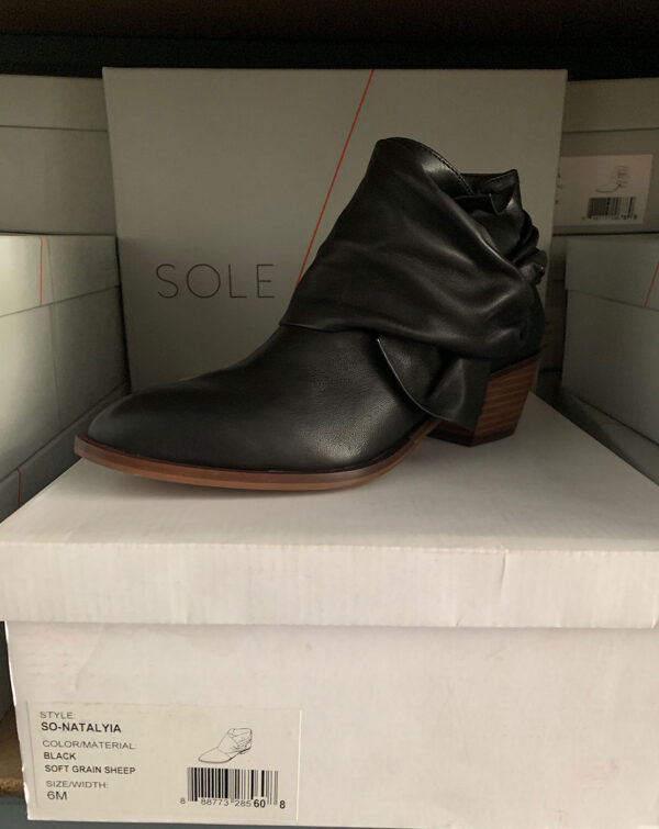 New Items Sole Society Black Leather Ankle Boot