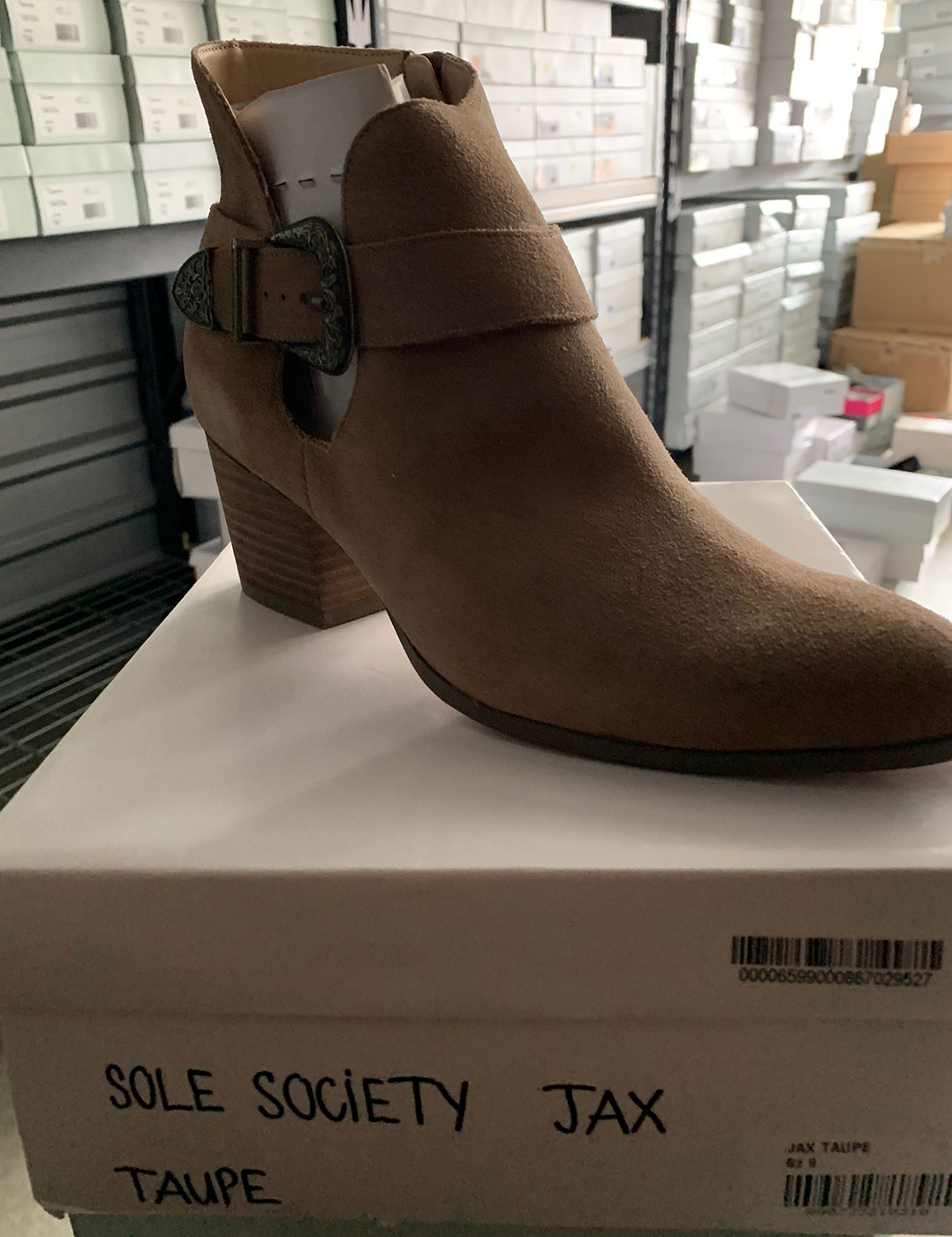 New Items Sole Society Tan Suede Shortie Boot