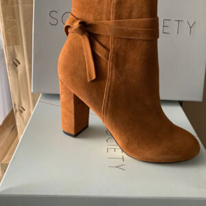 New Items Sole Society Rust Suede Shortie Boot