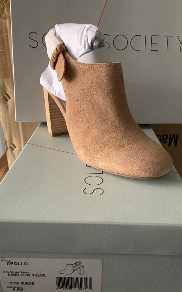 New Items Sole Society Tan Suede Shoes with Heel