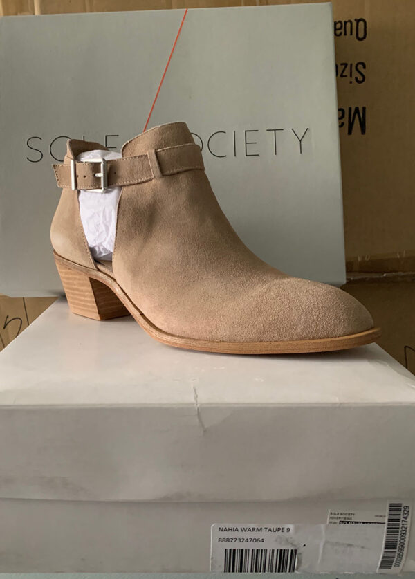 New Items Sole Society Suede Ankle Boot with Buckle