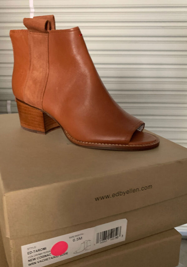 New Items Sole Society Cognac Leather Ankle Boot