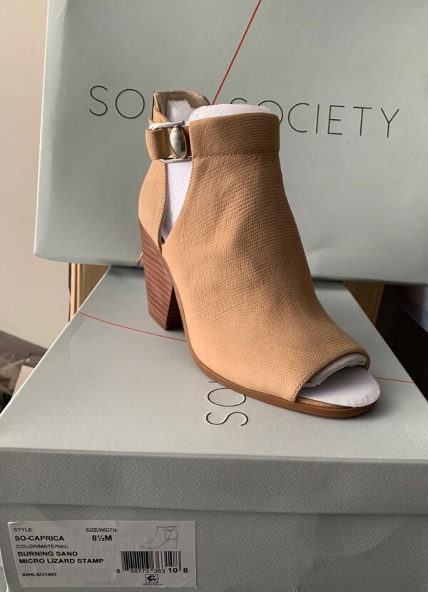 New Items Sole Society Tan Suede Ankle Boot with Buckle