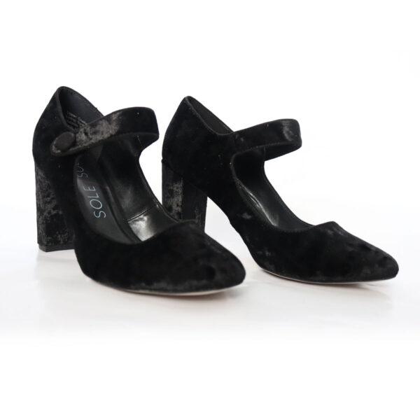 Sole Society Black Velvet Mary Jane Pumps New Items