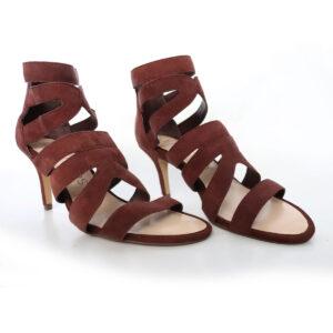 Suede Ankle Strap Heels Sandals