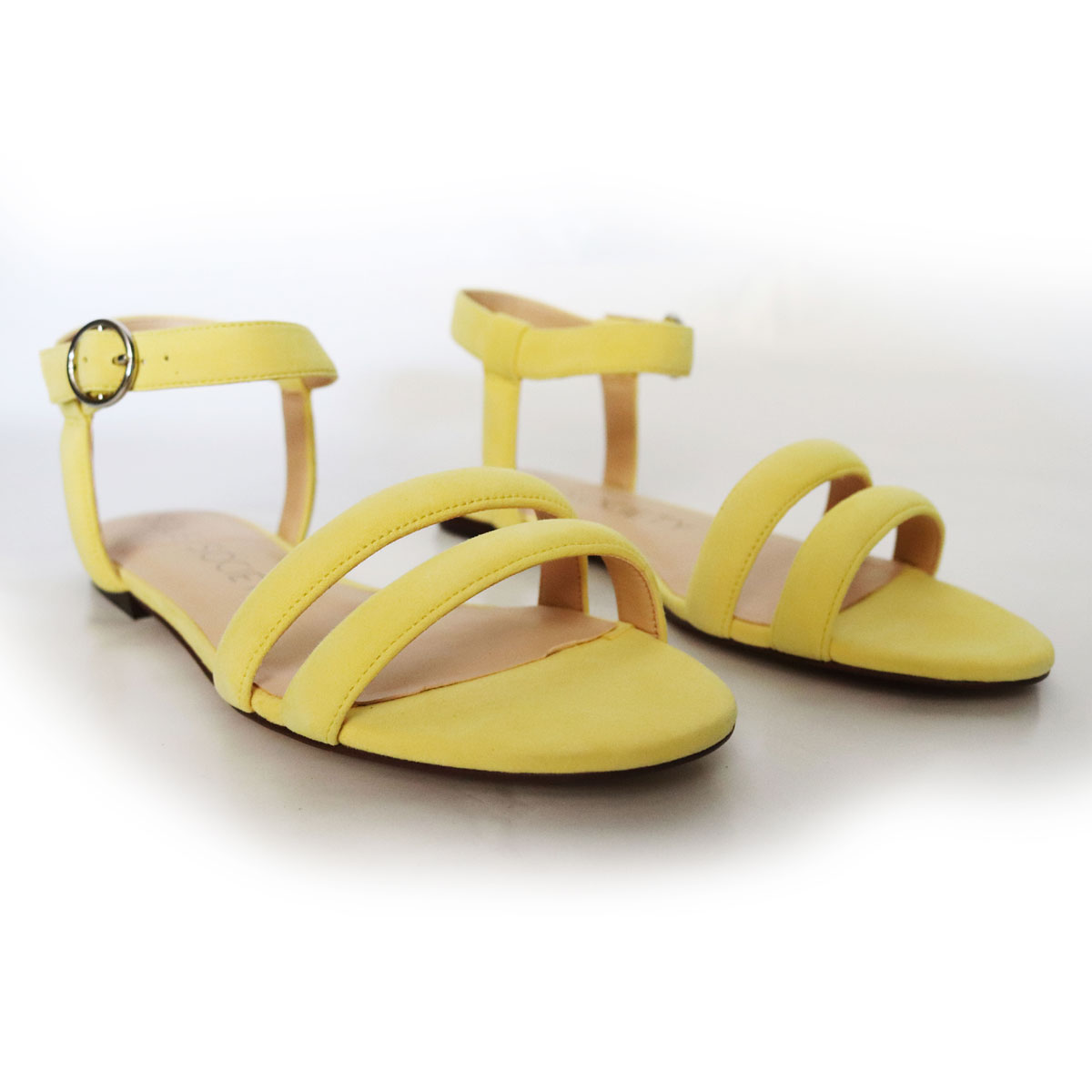 Sole Society Flat Yellow Suede Sandals New Items