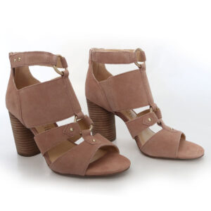 Sole Society Suede Stacked Heels Sandals