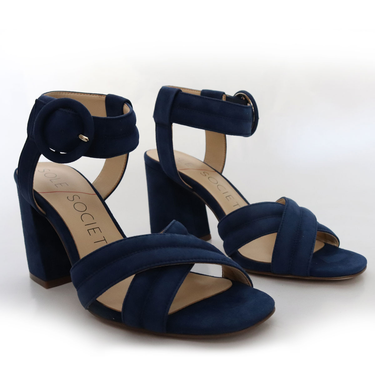Sole Society Blue Suede Open Toe Sandal New Items