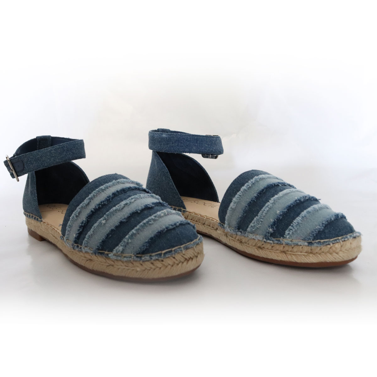 Sole Society Blue Denim Espadrilles New Items