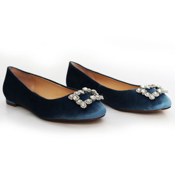 Ballet Slippers with Rhinestone Buckle