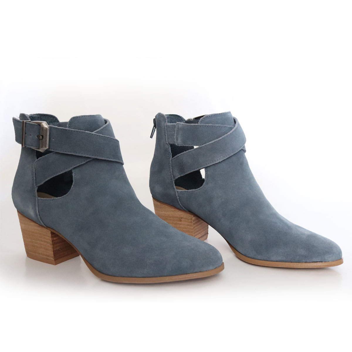 Sole Society Suede Cross-Strap Ankle Boots New Items