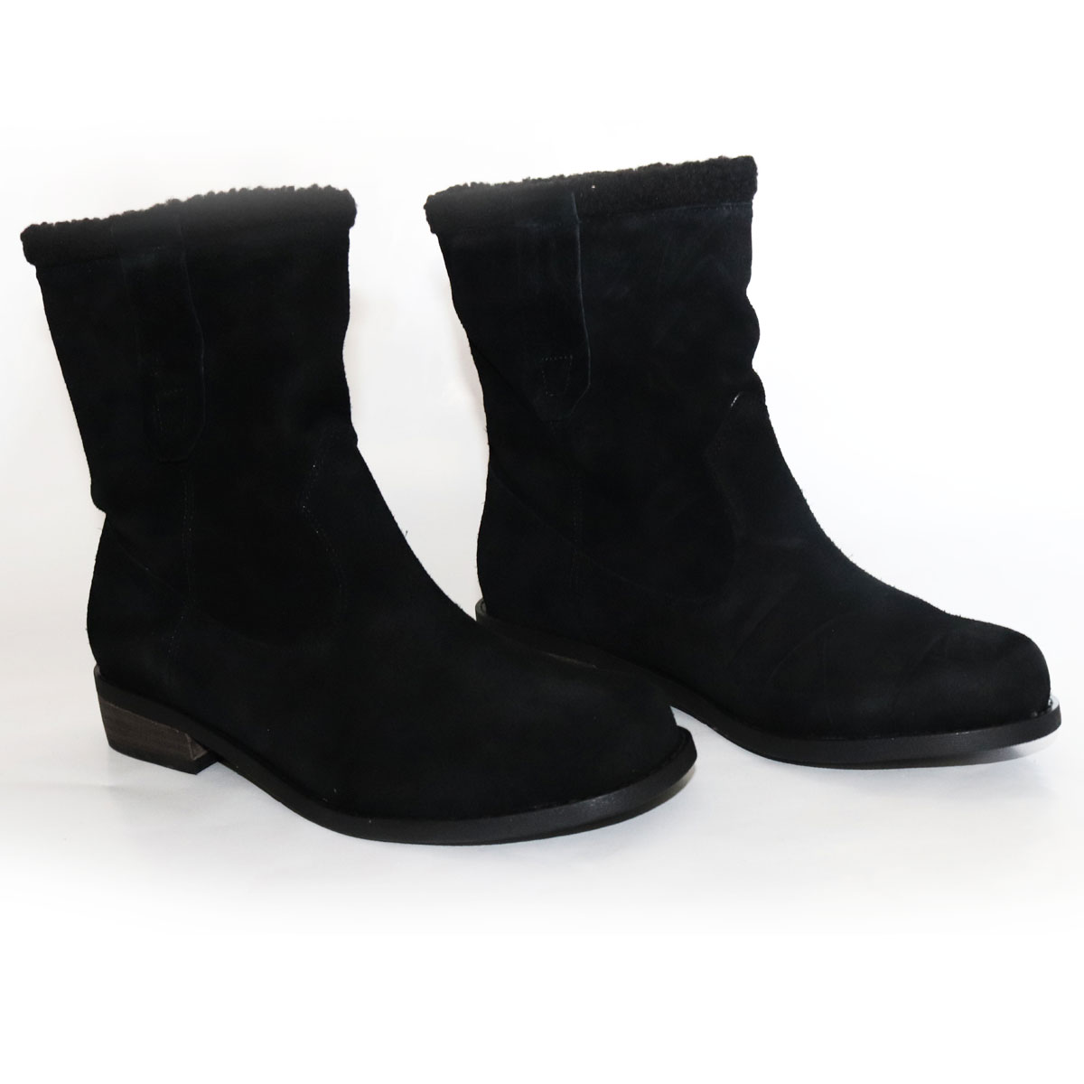 Sole Society Black Suede Boots