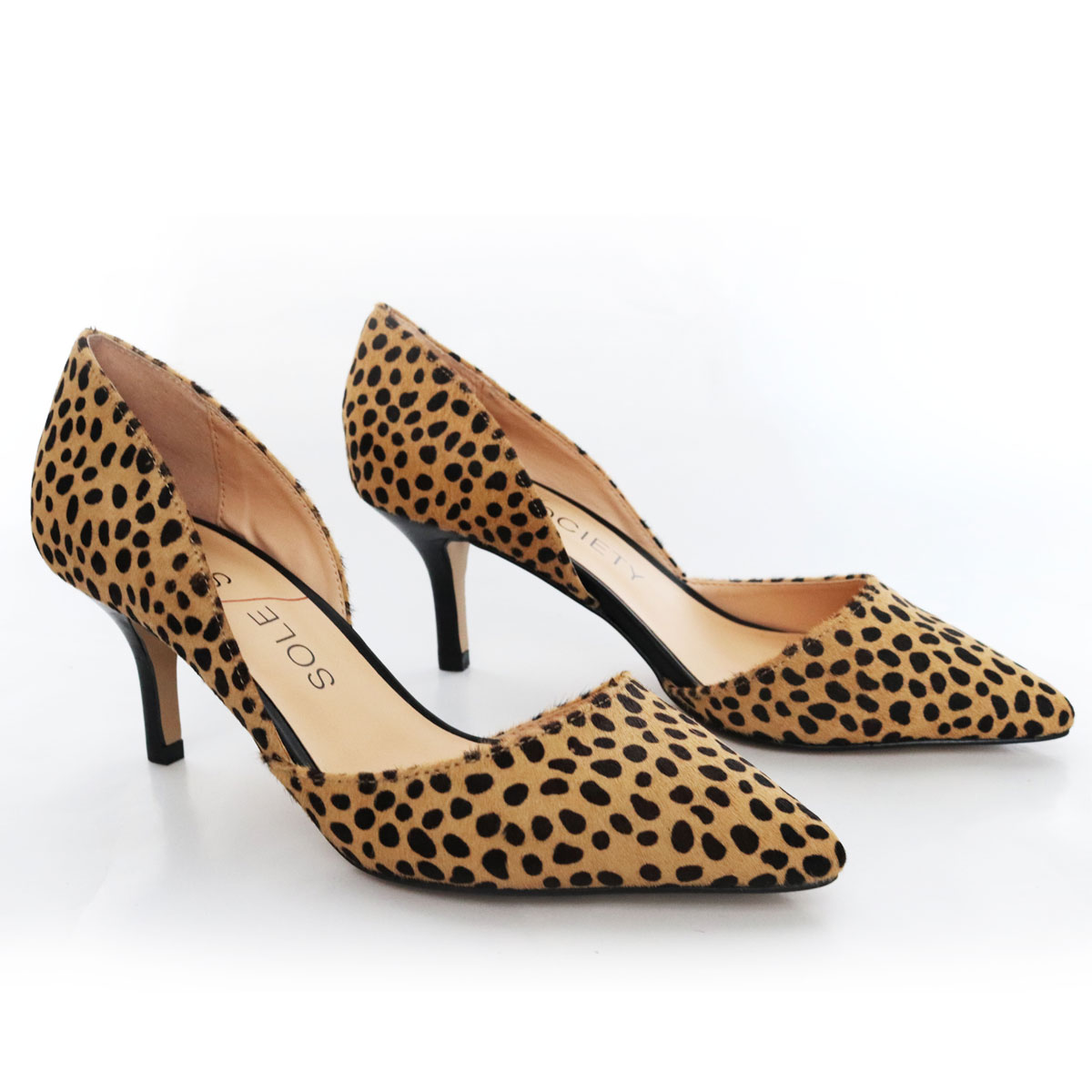 Sole Society Calf Hair Animal Print Pumps New Items