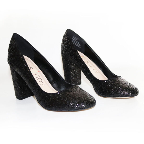 Sole Society black glitter pumps New Items