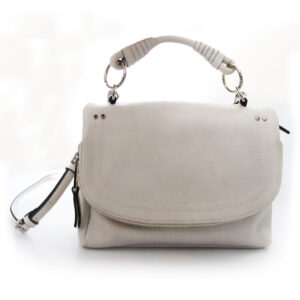 Purses Off-White Leather Bag with Shoulder Strap