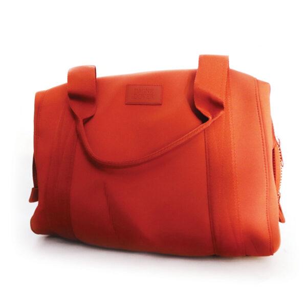 Purses Orange Microfiber Bag with Handles