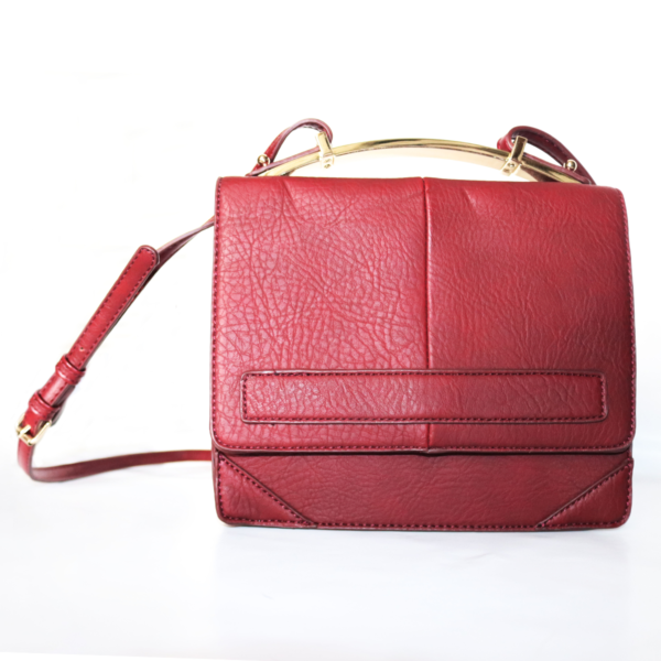 Purses Small Red Leather Bag with Strap