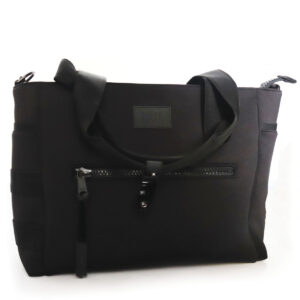 Black Microfiber Bag with Zipper Pocket