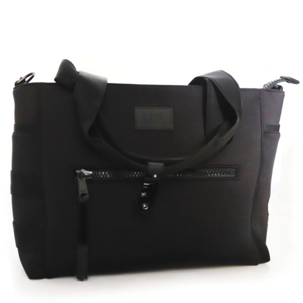 Black Microfiber Bag with Zipper Pocket