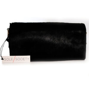 Purses Black Animal Hair Clutch