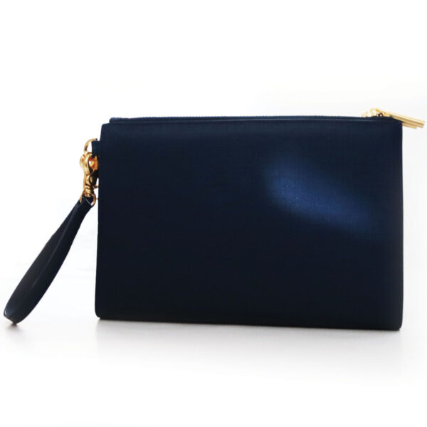 Purses Navy Clutch with Wrist Strap