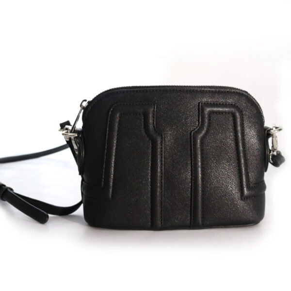 Purses Black Leather Clutch with Strap