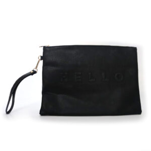 Purses Black Leather Clutch